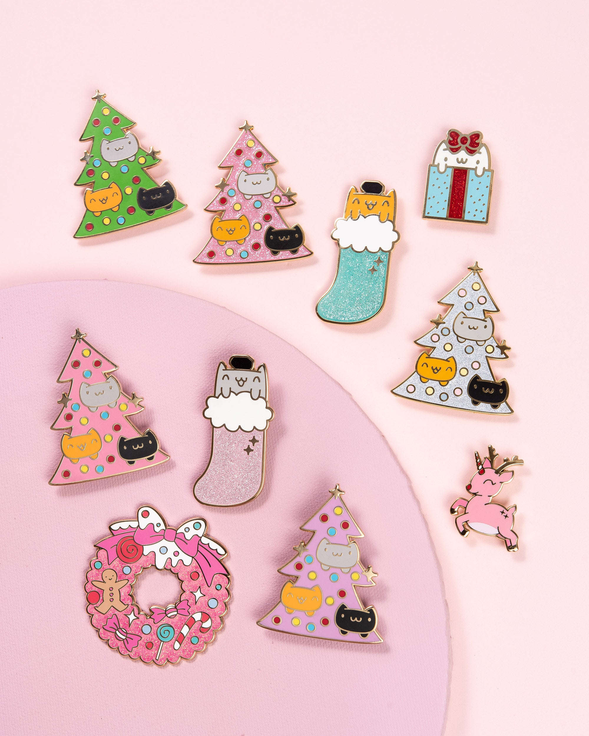 Catmas Christmas Tree • 2 Inch Giant Enamel Pin