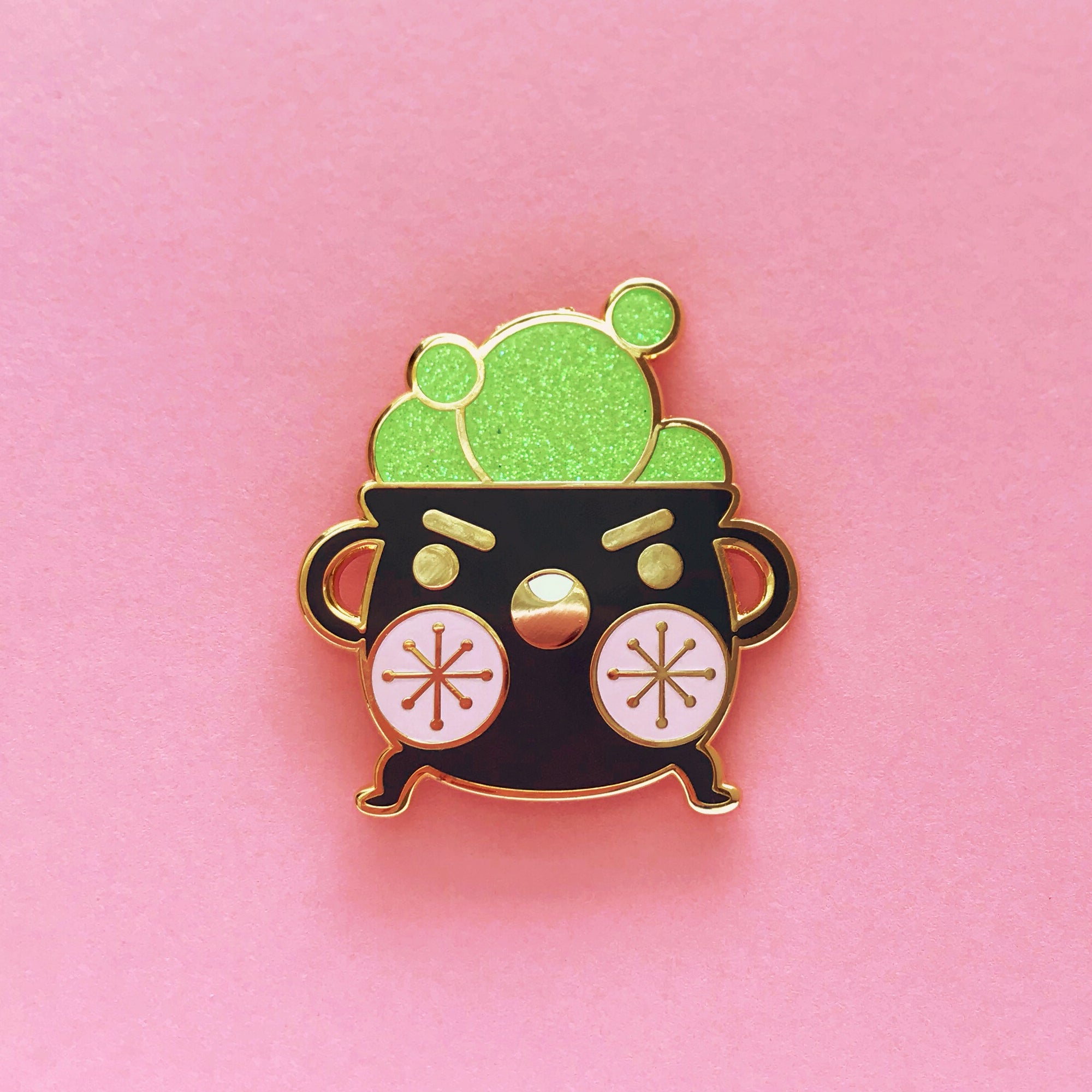 Sass Pot Enamel Pin • Undead Dee + The Pink Samurai - Enamel Pin - The Pink Samurai