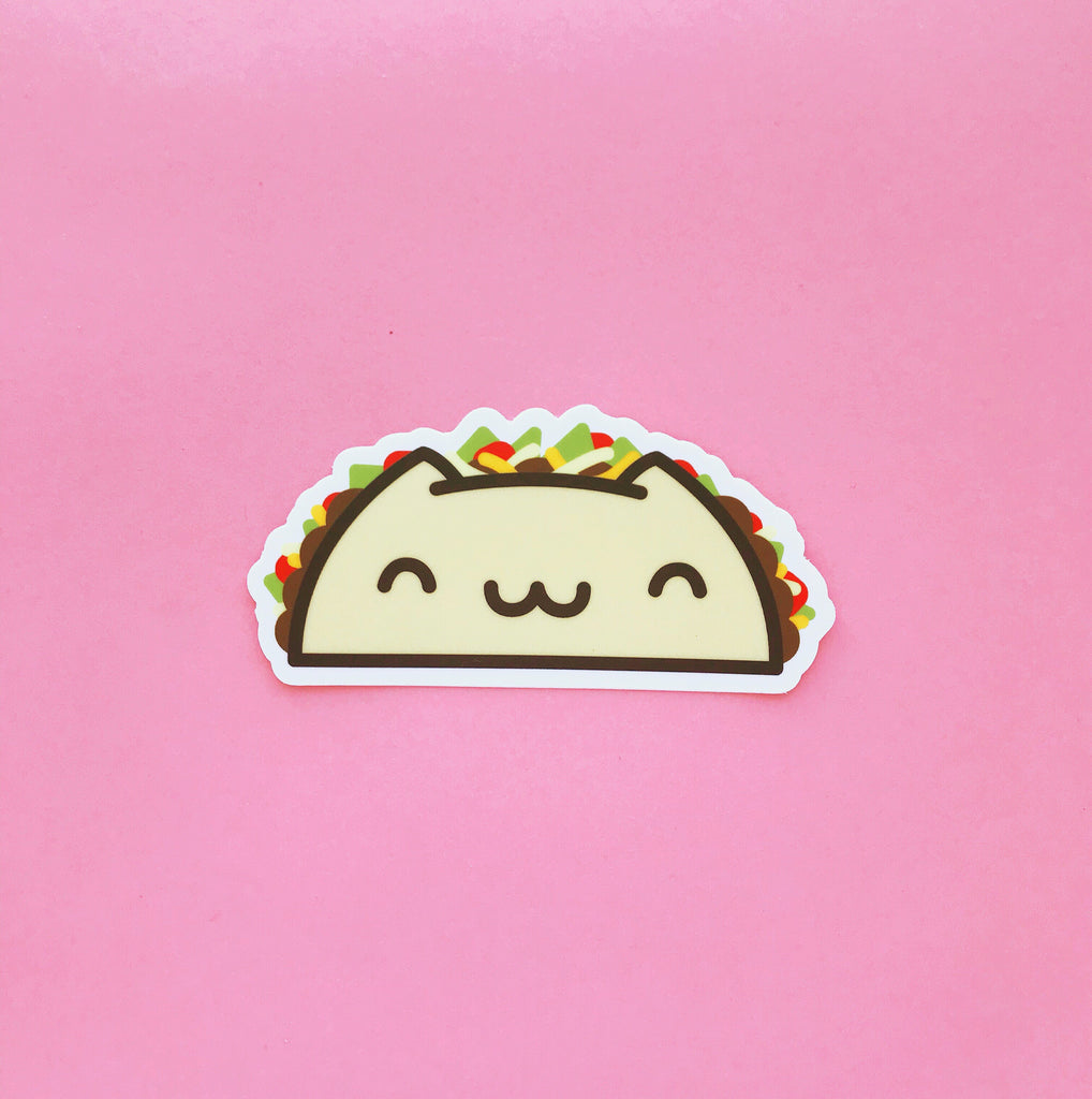 Taco Cat Sticker - Sticker - The Pink Samurai