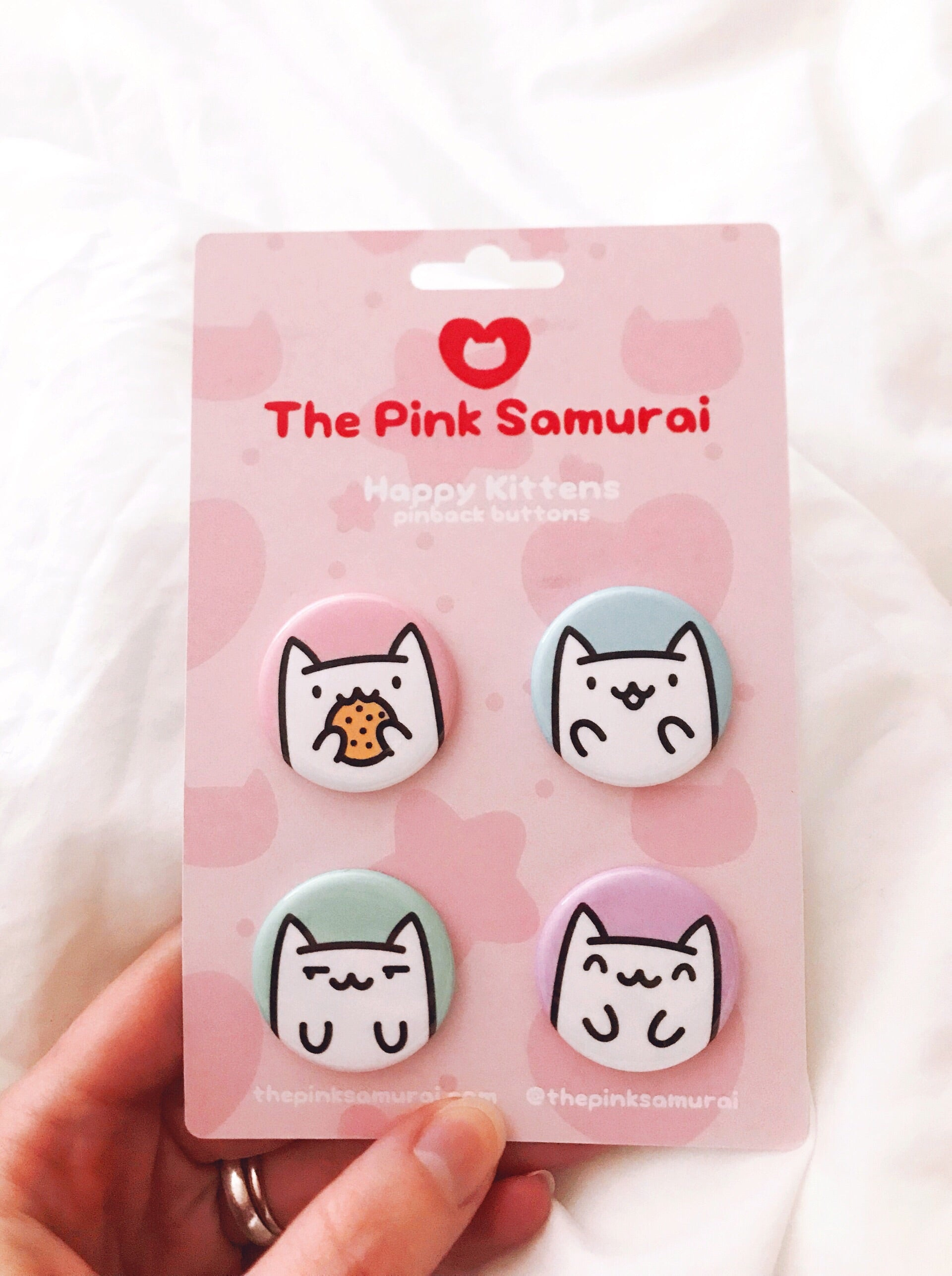 Happy Cats Buttons • Set of 4 - Buttons - The Pink Samurai