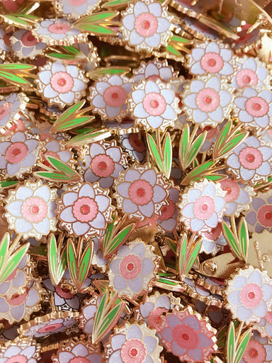 Hidden Kitten Daffodil Enamel Pin • LE Pin Club Variant - Enamel Pin - The Pink Samurai