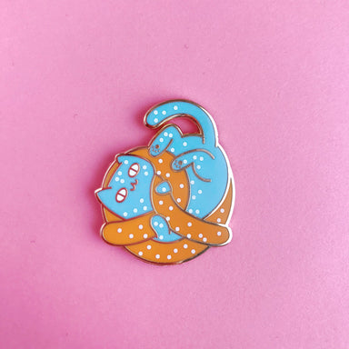 The Pink Samurai's Super Fun Pin Jubilee! Enamel Pin • Pretzel Cat - Enamel Pin - The Pink Samurai