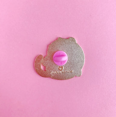 Pretzel Cat Enamel Pin • LE Pin Club Variant - Enamel Pin - The Pink Samurai