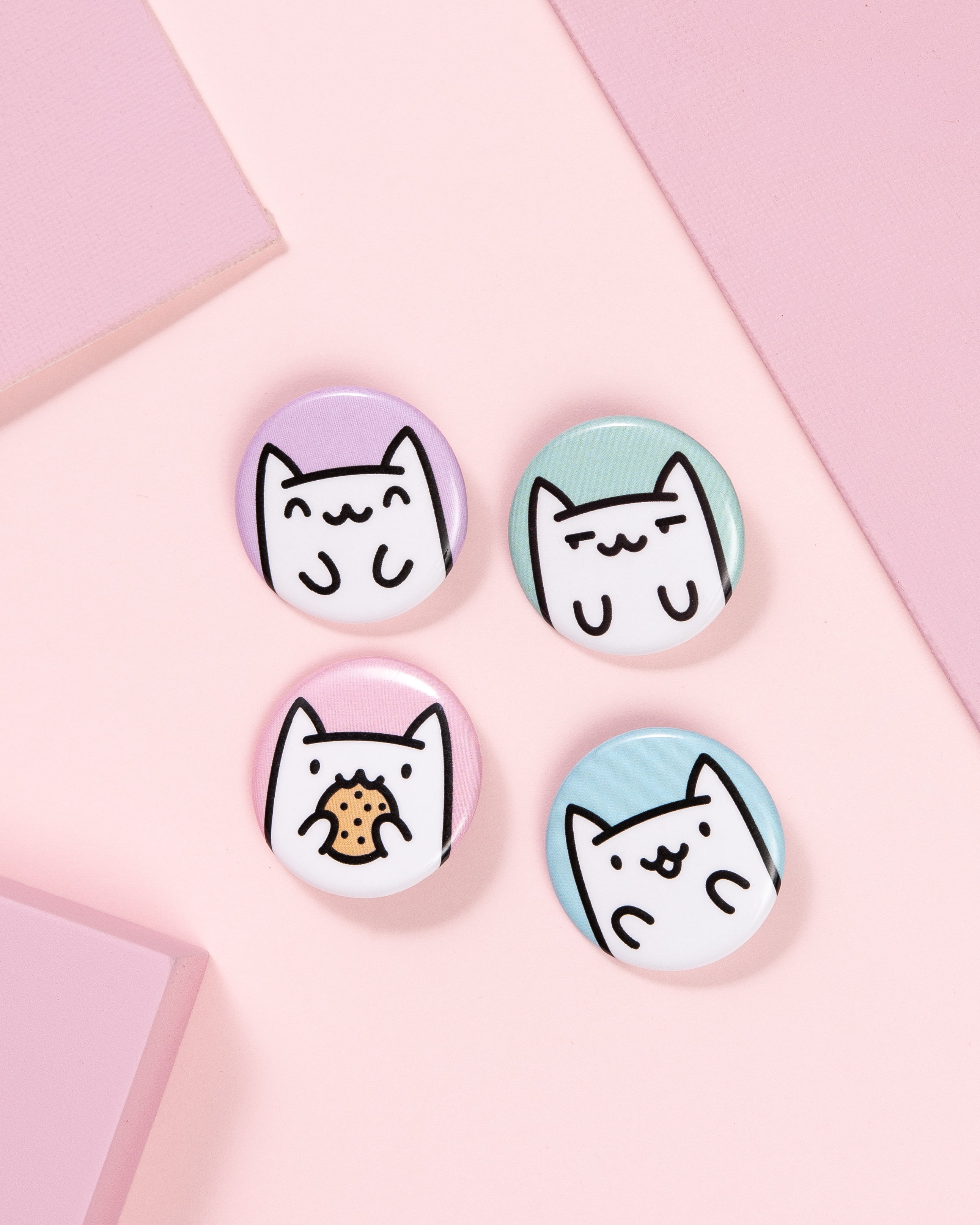 Happy Cats Buttons • Set of 4