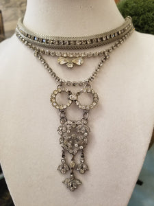 Art Deco Multi-Strand Rhinestone Necklace