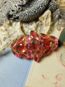Vintage Juliana Pink Rhinestone Statement Brooch
