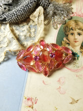 Load image into Gallery viewer, Vintage Juliana Pink Rhinestone Statement Brooch