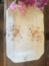 Load image into Gallery viewer, 1800's Ironstone Brown Transferware Platter