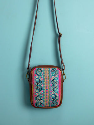 Thai Ceremonial Embroidery Travel Pouch - Mila Roads