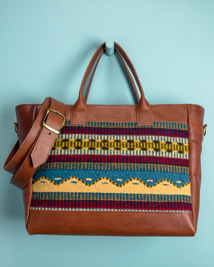 Oaxoca Zapotek Handloomed Weekender - Mila Roads