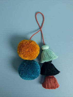Naples Pom and Tassel Charm - Mila Roads