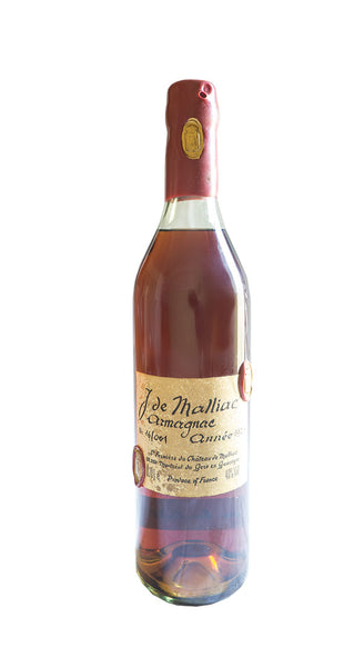 J de Malliac - Armagnac Annee - 1929 bottled in 1989