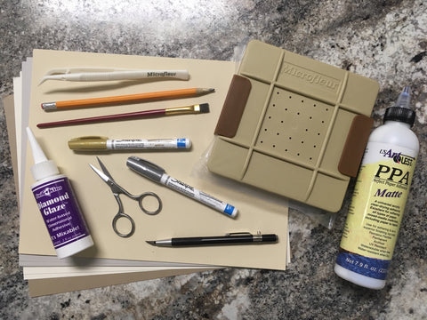Recommended supplies for pressed flower crafts