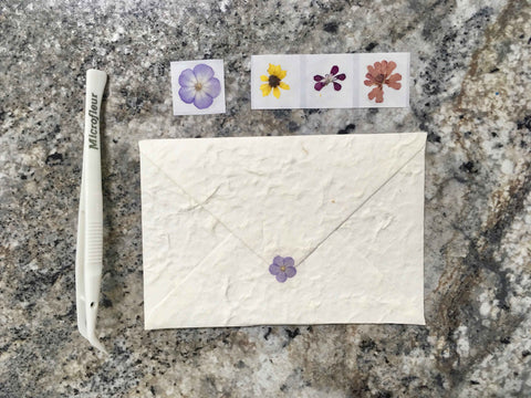 DIY pressed flower stickers