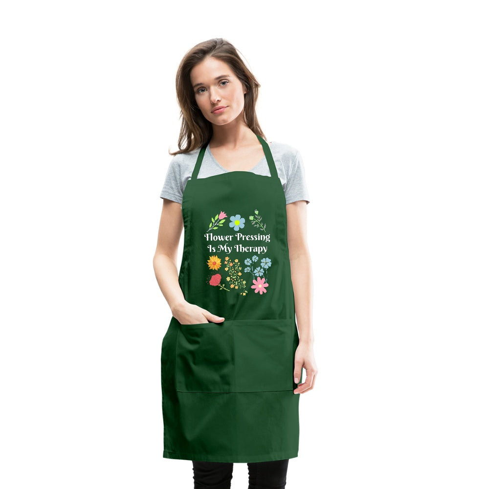 Flower Pressing is My Therapy Apron  Adjustable Apron Microfleur