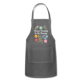 Flower Pressing is My Therapy Apron charcoal Adjustable Apron Microfleur
