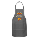 Flowers are a Pressing Matter Apron charcoal Adjustable Apron Microfleur