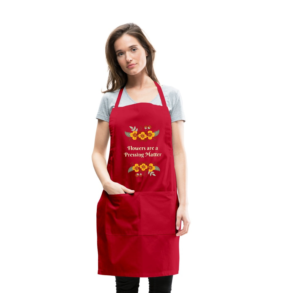 Flowers are a Pressing Matter Apron  Adjustable Apron Microfleur