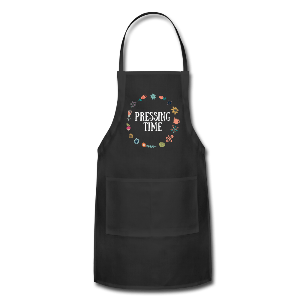 Pressing Time Apron black Adjustable Apron Microfleur