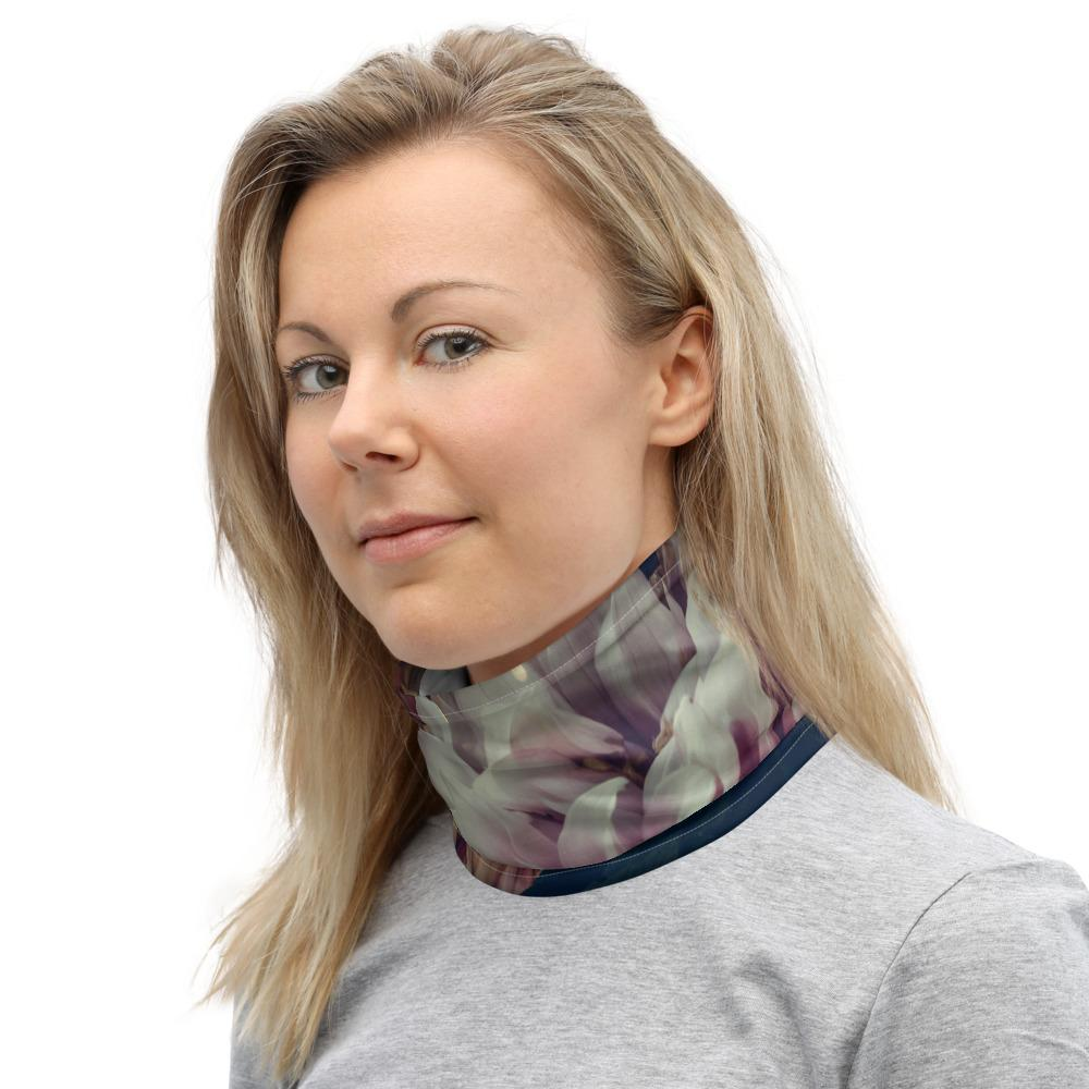 Floral Neck Gaiter  Face Covering Microfleur