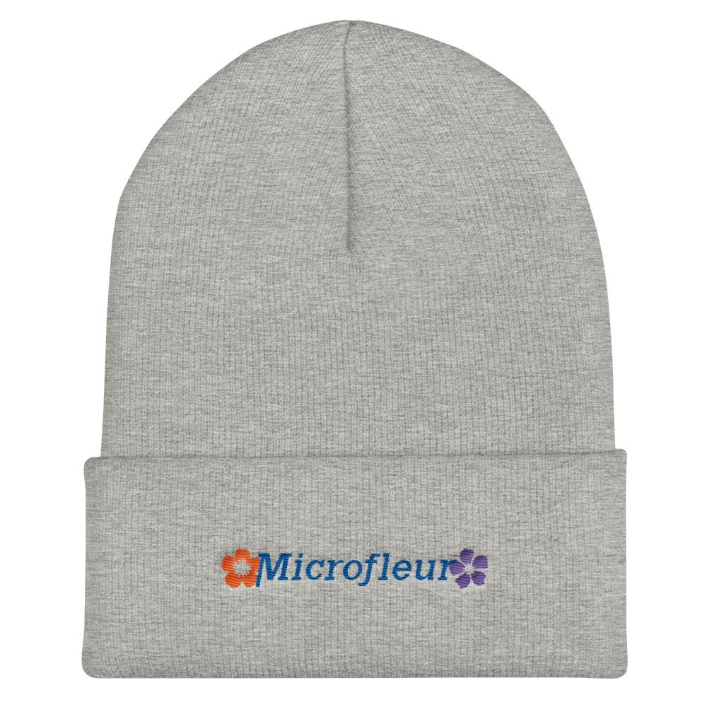 Microfleur Cuffed Beanie Heather Grey Hat Microfleur