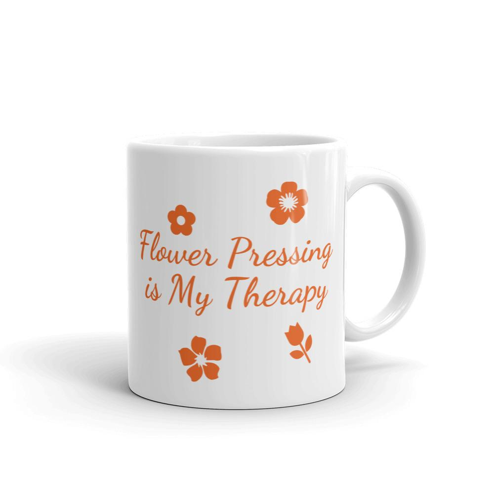 Flower Pressing is My Therapy Coffee Mug 11oz Coffee Mug Microfleur