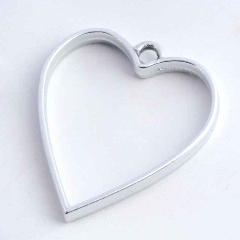 Heart Open Back Bezel Pendant  Open Back Bezel Microfleur