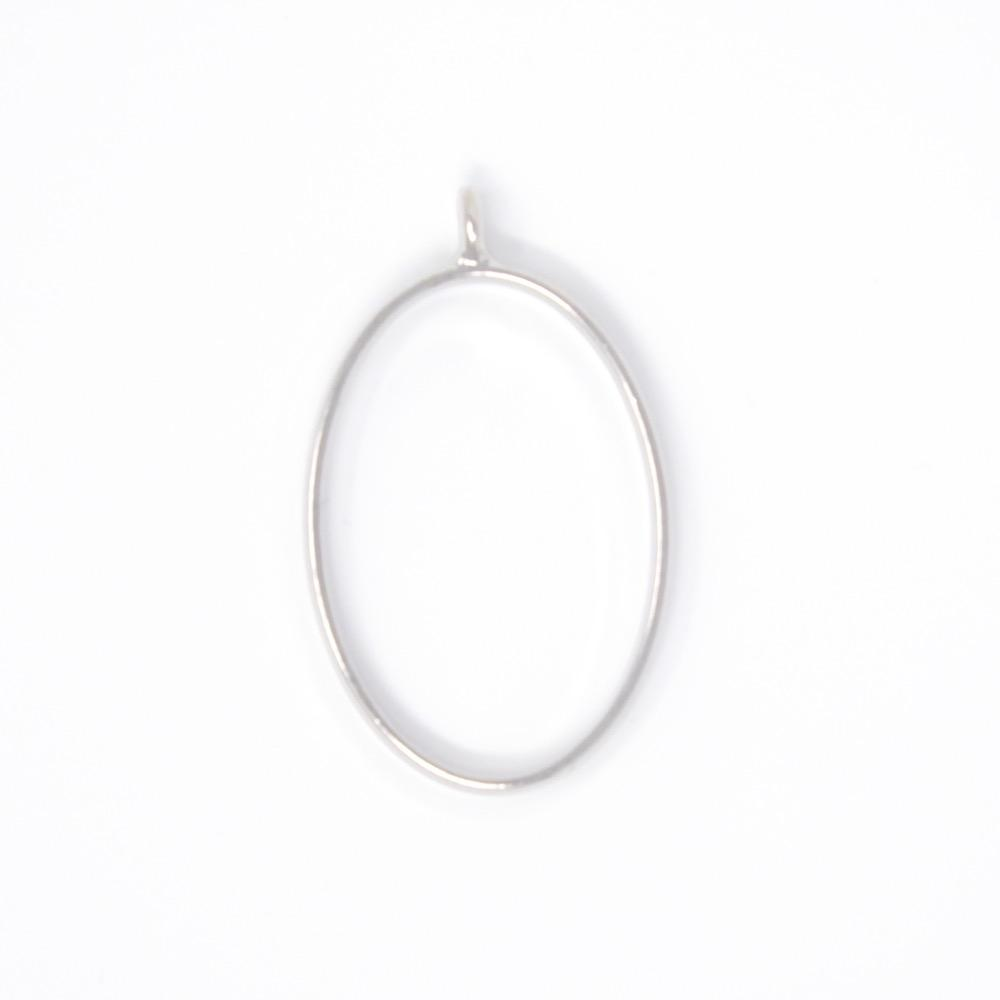Oval Open Back Bezel Pendant Platinum Open Back Bezel Microfleur
