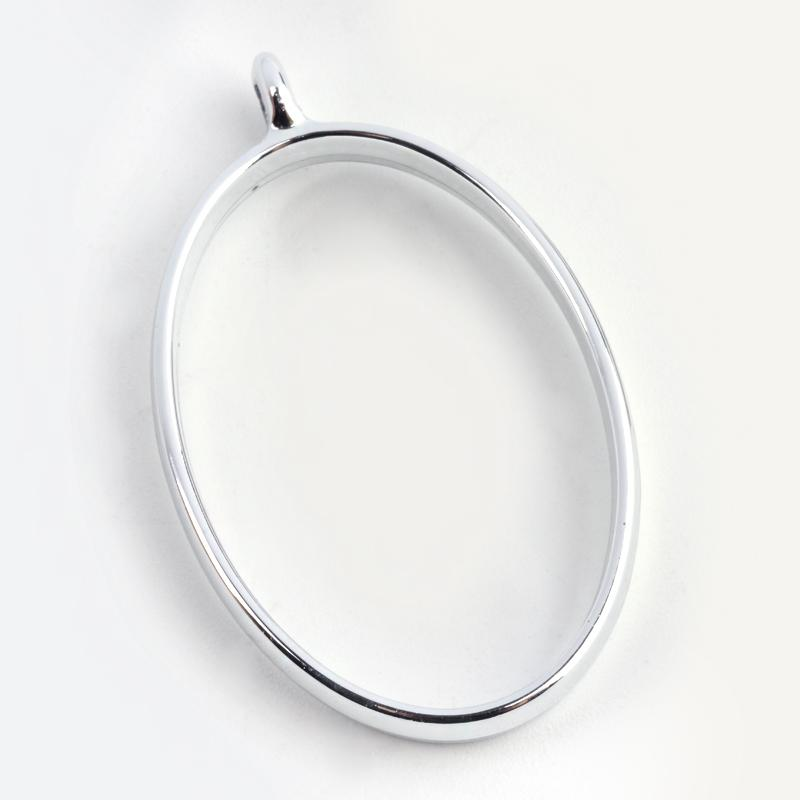 Oval Open Back Bezel Pendant  Open Back Bezel Microfleur