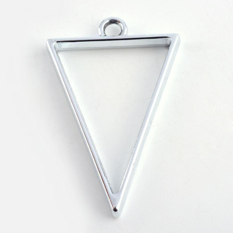 Triangle Open Back Bezel Pendant Platinum Open Back Bezel Microfleur