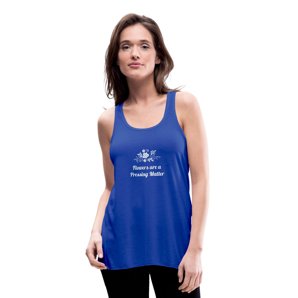 Flowers are a Pressing Matter Flowy Tank Top royal blue / 2XL Women's Flowy Tank Top Microfleur