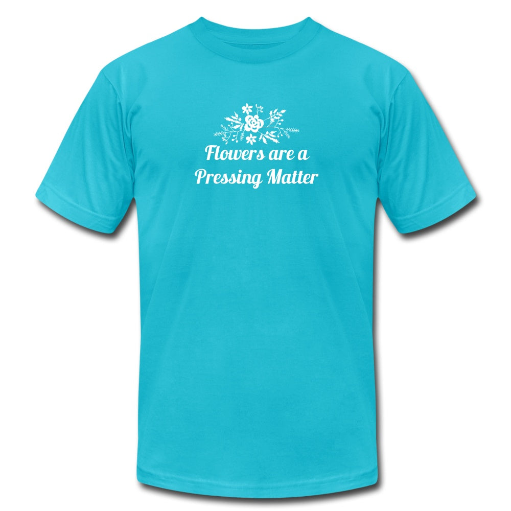 Flowers are a Pressing Matter T-Shirt turquoise / 3XL Women's T-Shirt Microfleur
