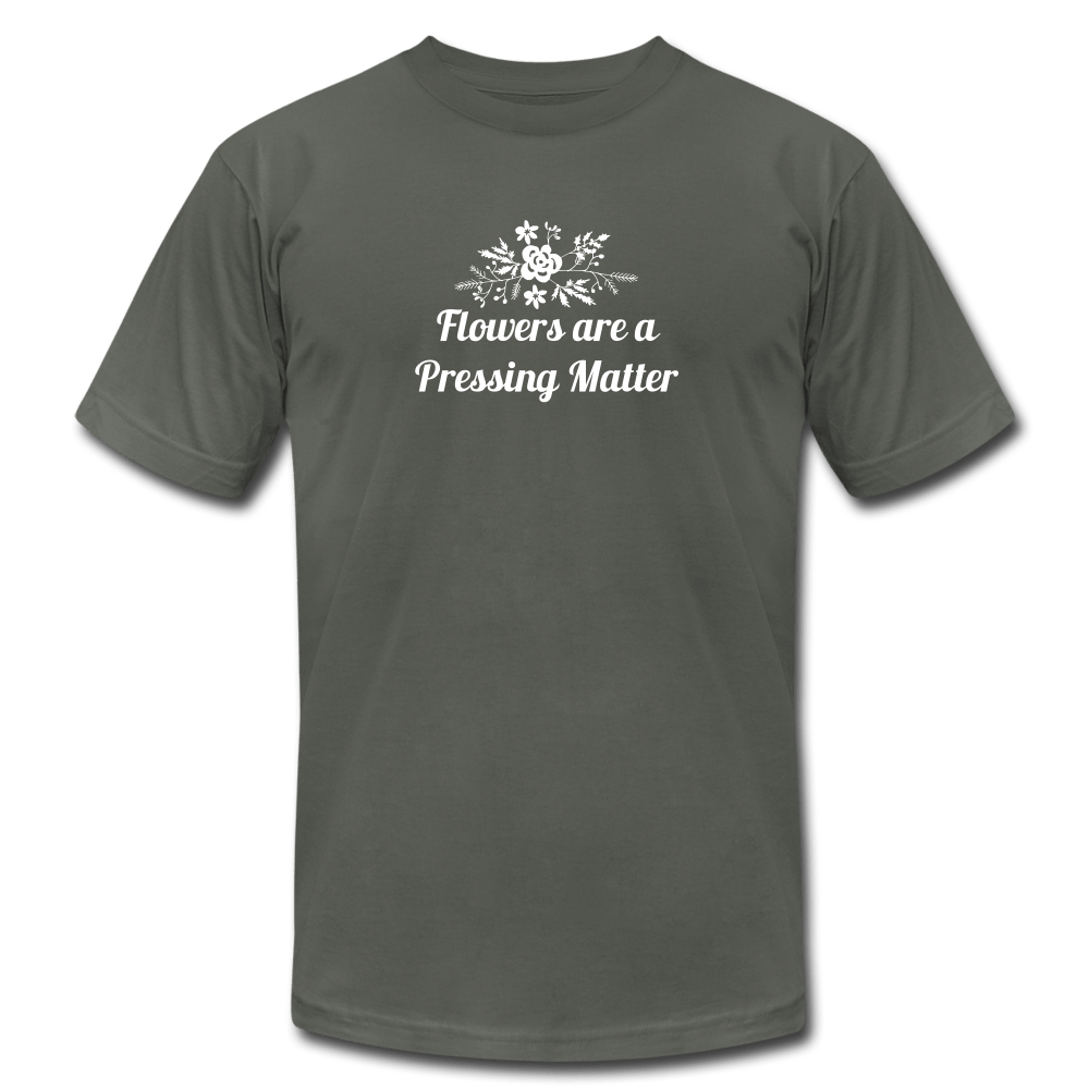 Flowers are a Pressing Matter T-Shirt asphalt / 3XL Women's T-Shirt Microfleur
