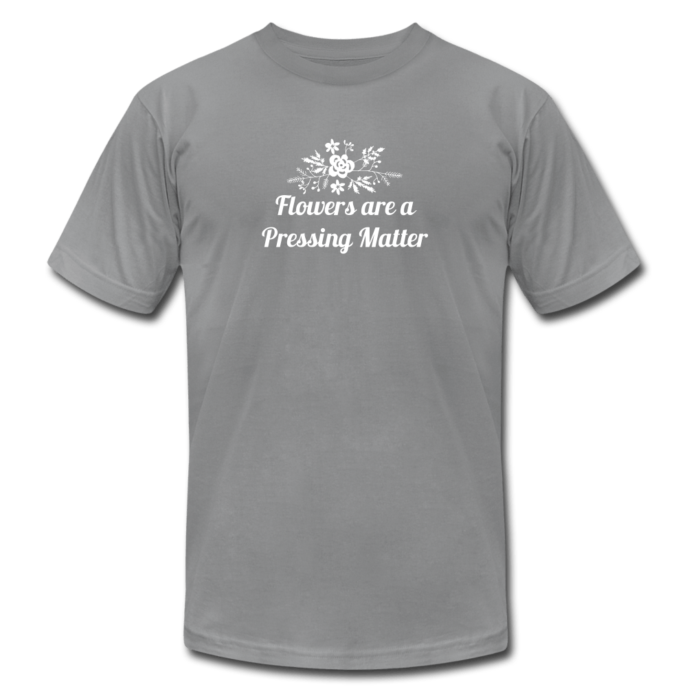 Flowers are a Pressing Matter T-Shirt slate / 3XL Women's T-Shirt Microfleur