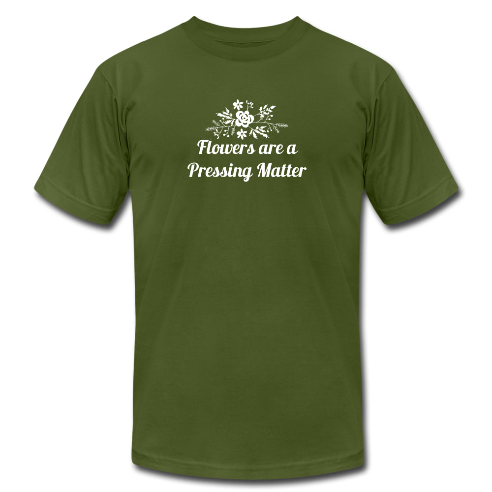 Flowers are a Pressing Matter T-Shirt olive / 3XL Women's T-Shirt Microfleur