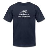 Flowers are a Pressing Matter T-Shirt navy / 3XL Women's T-Shirt Microfleur