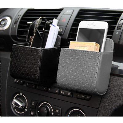 Organiser Box Bag Dashboard Hanging Leather Phone Holder - MS Unique