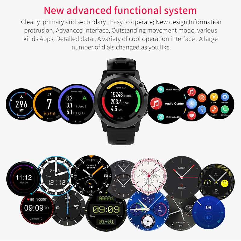 "Smart Watch Android 4.4 Waterproof 1.39"" 3G Wifi GPS SIM - MS Unique"