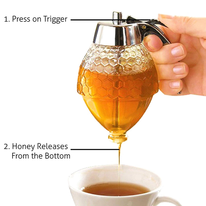 Honey Dispenser Jar Container Cup