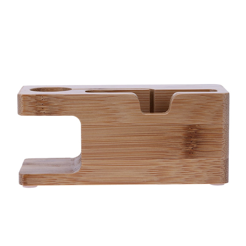 Wooden Charging Dock Station Phone Holder Bamboo - MS Unique