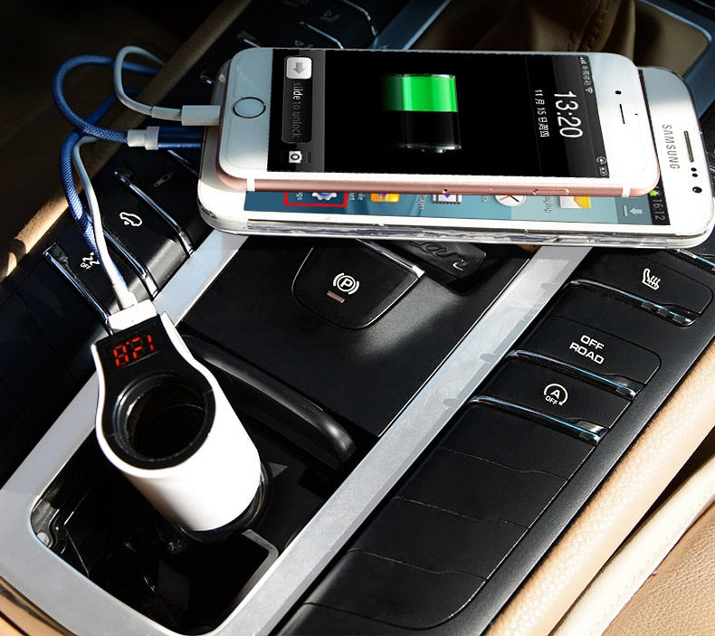 Dual USB Car Charger Mini LED Adopter - MS Unique