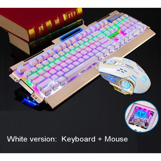 Mechanical Keyboard Gaming + Gaming Mouse - MS Unique