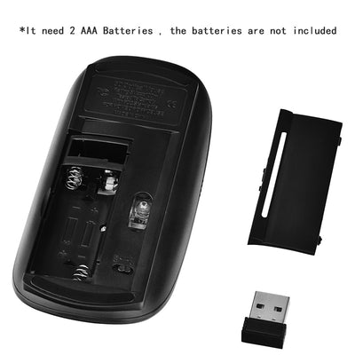Ergonomic USB Wireless Slim Mouse Touch Wheel - MS Unique