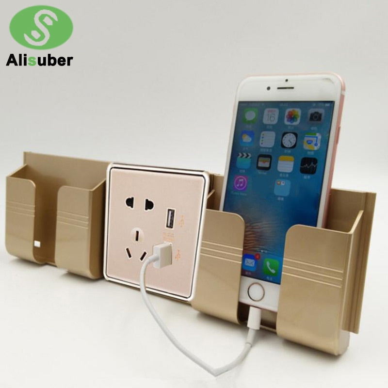 Wall Phone Holder Charging Storage Box - MS Unique