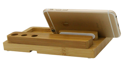 Stand for Phone and Tablet Real Bamboo Charging Stand - MS Unique