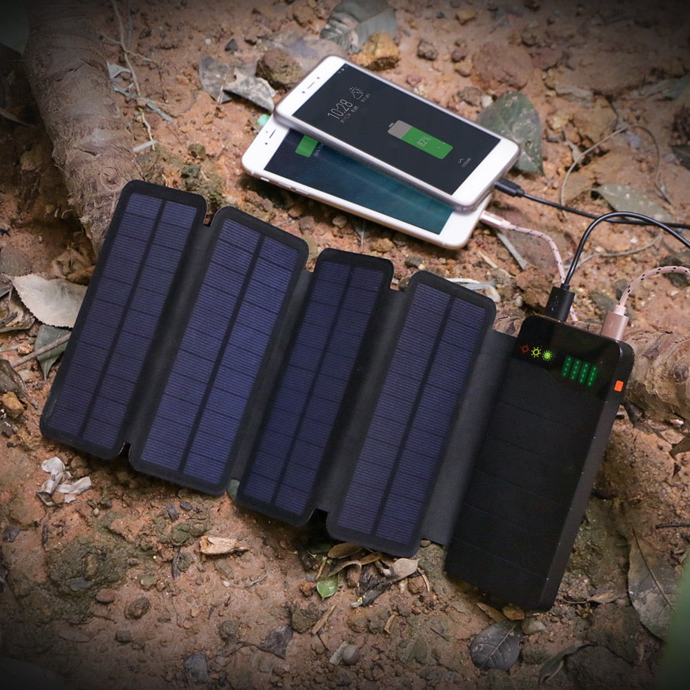 10000mAh Solar Power Bank Waterproof Solar Charge - MS Unique