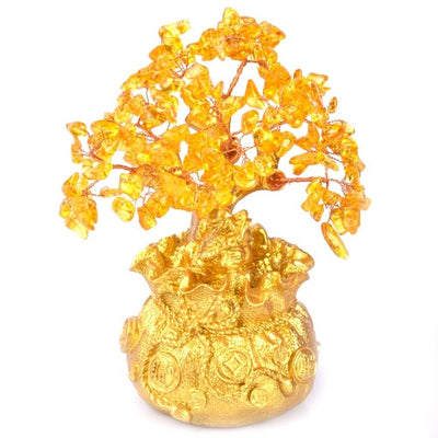 Crystal Money Tree Bonsai Style Wealth - MS Unique