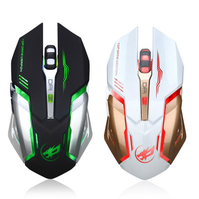 Rechargeable Wireless Silent LED Gaming Mouse - MS Unique
