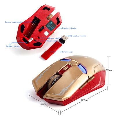 Wireless Gaming Mouse Lightning Eyes - MS Unique