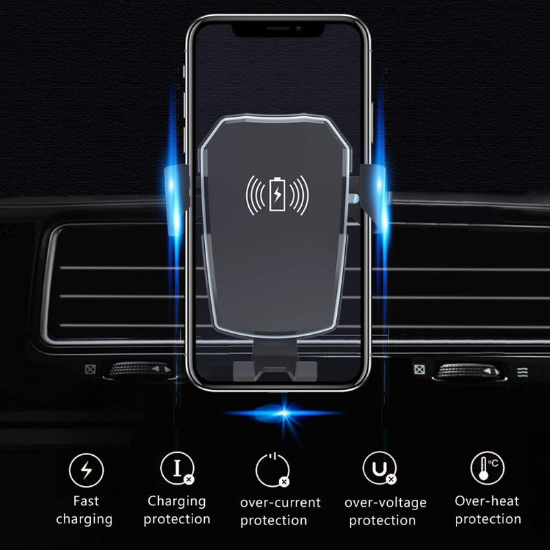 QI Wireless Car Charger Gravity Air Vent Phone Holder - MS Unique